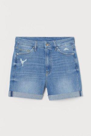 Embrace High Denim Shorts - Blue