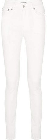 Distressed High-rise Skinny Jeans - White