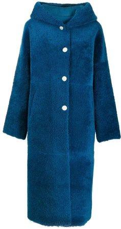 Liska hooded oversized coat