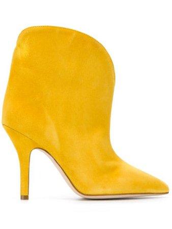 Yellow Paris Texas Slip-On Pointed Booties   Farfetch.com