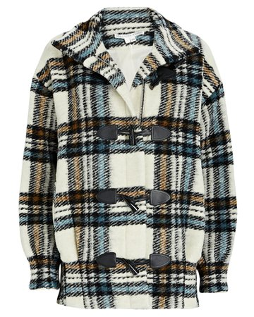 Veronica Beard Cael Flannel Dickey Duffel Coat | INTERMIX®