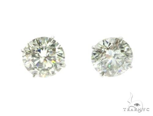 18K White Gold XL Diamond Earrings 63759
