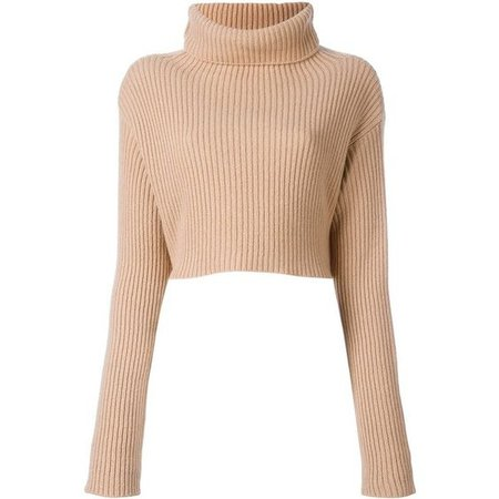 Valentino cropped ribbed jumper