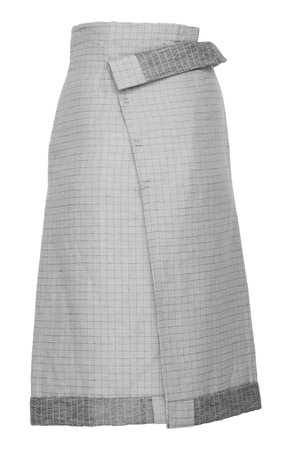 SITUATIONIST Folded Waist Wool Skirt