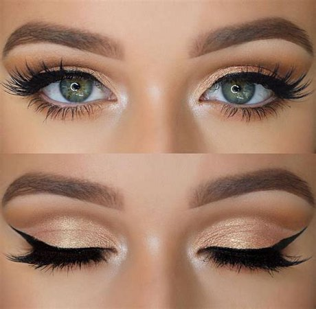 subtle touches of green eye makeup - Images - OceanHero