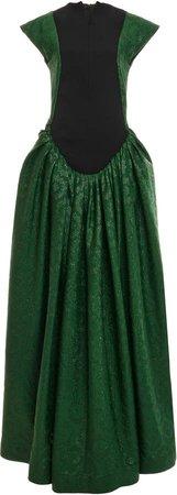 Loewe Pleated Jacquard Gown