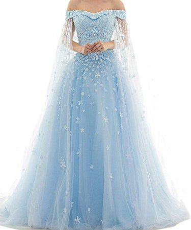 AmazonSmile: Kivary Off Shoulder Lace Beaded Long A Line Formal Prom Dresses Evening Gowns: Clothing