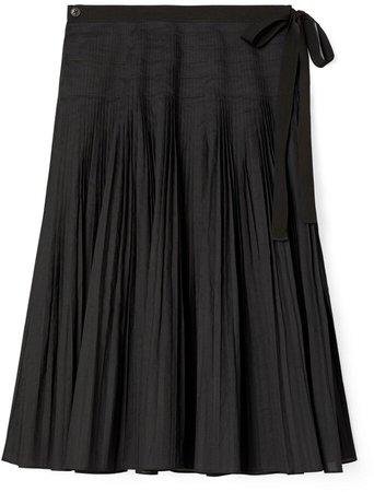 Pleated Tie-Wrap Skirt