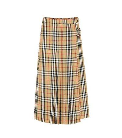 Burberry - Check wool skirt | Mytheresa