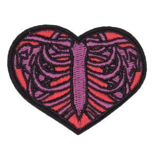 Ribcage Heart Iron On Patch - Red – WeirdGirlsClub