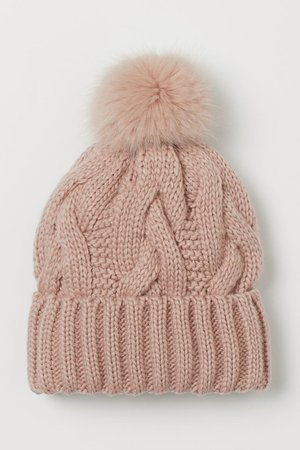 Knit Hat - Powder pink - Ladies   H&M CA