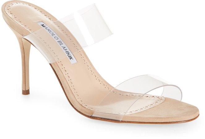 Scolto Transparent Strap Sandal