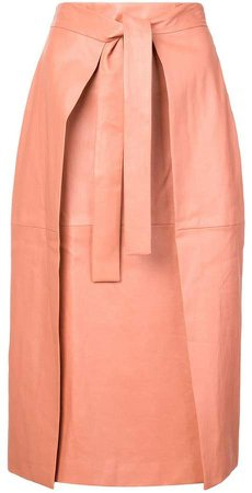 belted midi skirt