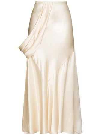 Ruched-Detail Slip Skirt