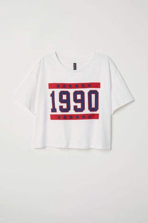 Short T-shirt - White