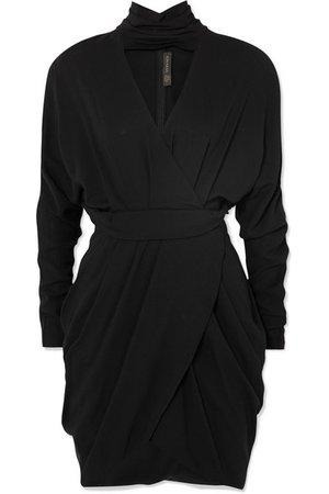 Versace | Wrap-effect crepe mini dress | NET-A-PORTER.COM