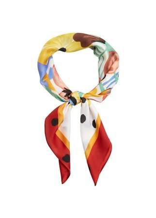 MANGO Floral printed scarf
