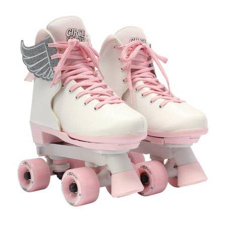 Circle Society Girls' Classic Pink Vanilla Quad Roller Skates   DICK'S Sporting Goods
