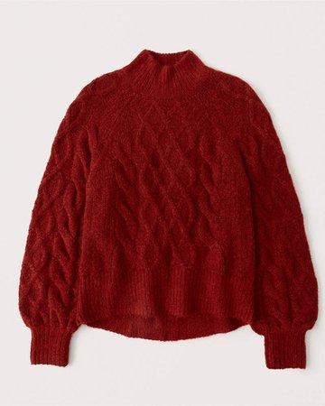 Women's Cozy Mockneck Sweater   Women's New Arrivals   Abercrombie.com