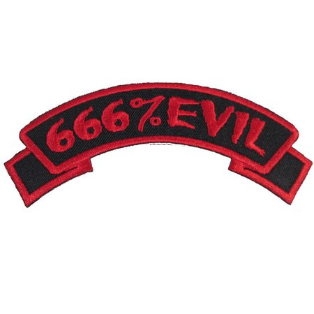 666 Evil Embroidered Iron On Patch Officially Licensed | Etsy