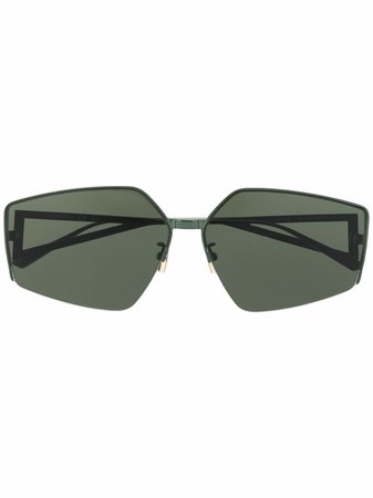 Shop Bottega Veneta Eyewear geometric-frame sunglasses with Express Delivery - FARFETCH
