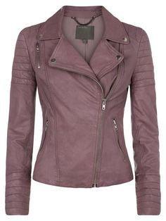 Pinterest | dusty purple leather jacket