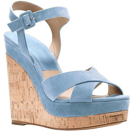 Light Blue Sandal Wedges