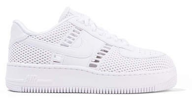Air Force I Upstep Leather And Mesh Sneakers - White