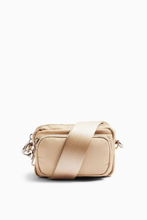 MICRO Beige Nylon Cross Body Bag | Topshop