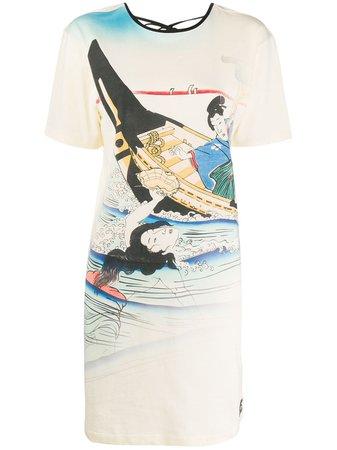 Kenzo Ama Printed T-shirt Dress - Farfetch