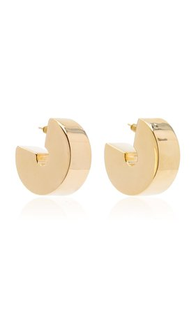 Swash Gold-Vermeil Hoop Earrings By Uncommon Matters | Moda Operandi
