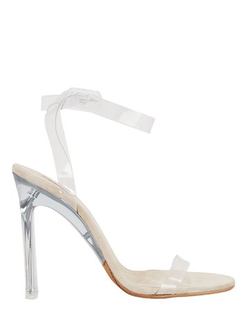 Clear PVC Ankle Strap Sandals