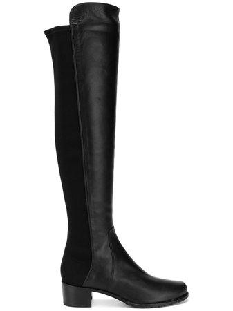 Black Stuart Weitzman over the knee boots ZL44250RESERVE - Farfetch