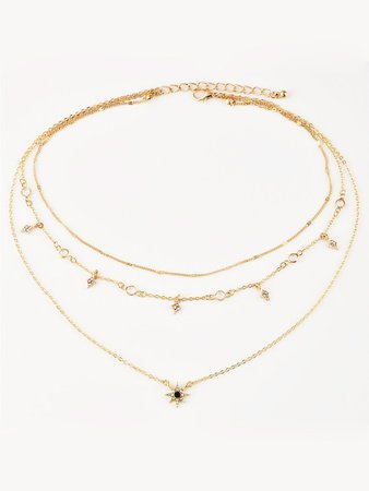 Cheap Star Charm Layered Chain Necklace for sale Australia | SHEIN