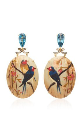 18k Gold, Topaz And Diamond Earrings By Silvia Furmanovich | Moda Operandi