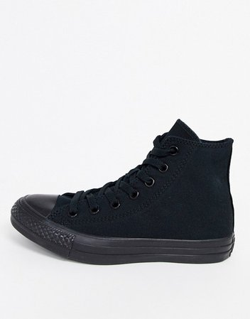 Converse Chuck Taylor All Star Hi black monochrome sneakers | ASOS