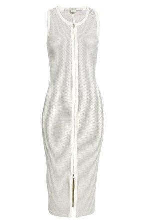 ALLSAINTS Alicia Stripe Rib Midi Dress | Nordstrom