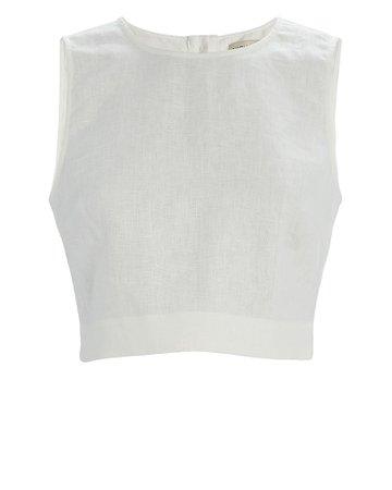 Nicholas | Alyssa Sleeveless Linen Top | INTERMIX®