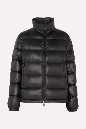 Quilted Shell Down Jacket - Black