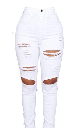 White Ripped Jean