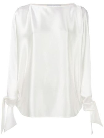 Gianluca Capannolo Tied Sleeves Blouse 18ET549400A White | Farfetch