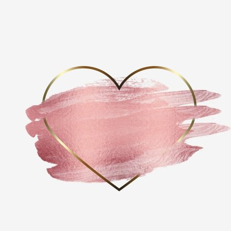 Background   Rose gold heart paint