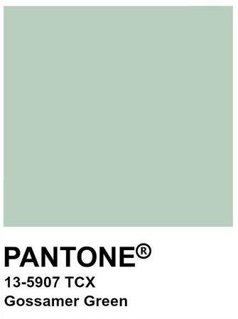 pantone gossamer green