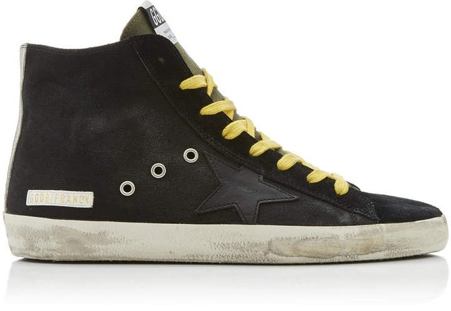 Francy Distressed Suede And Rubber Sneakers
