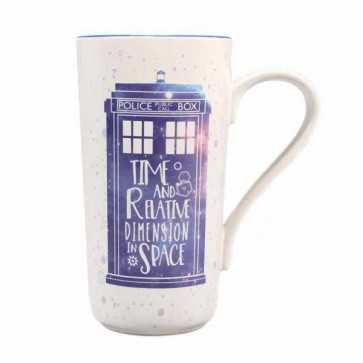 Official Doctor Who TARDIS Latte Mug