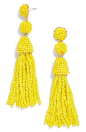 BaubleBar Granita Beaded Tassel Earrings | Nordstrom