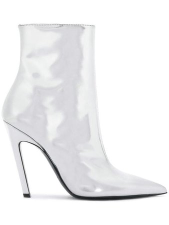 Balenciaga Silver Talon Mirror 80 Ankle Boots - Fast Global Shipping, Free Returns