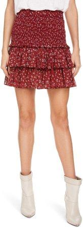 Isabel Marant Atoile Naomi Floral Tiered Miniskirt