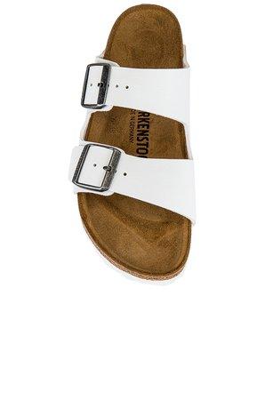 BIRKENSTOCK Arizona Sandal in White | REVOLVE