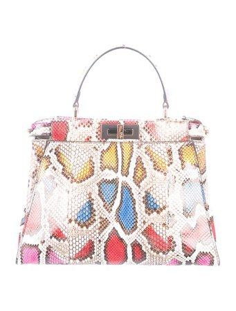 Fendi Python Small Peekaboo Tote - Handbags - FEN94953 | The RealReal
